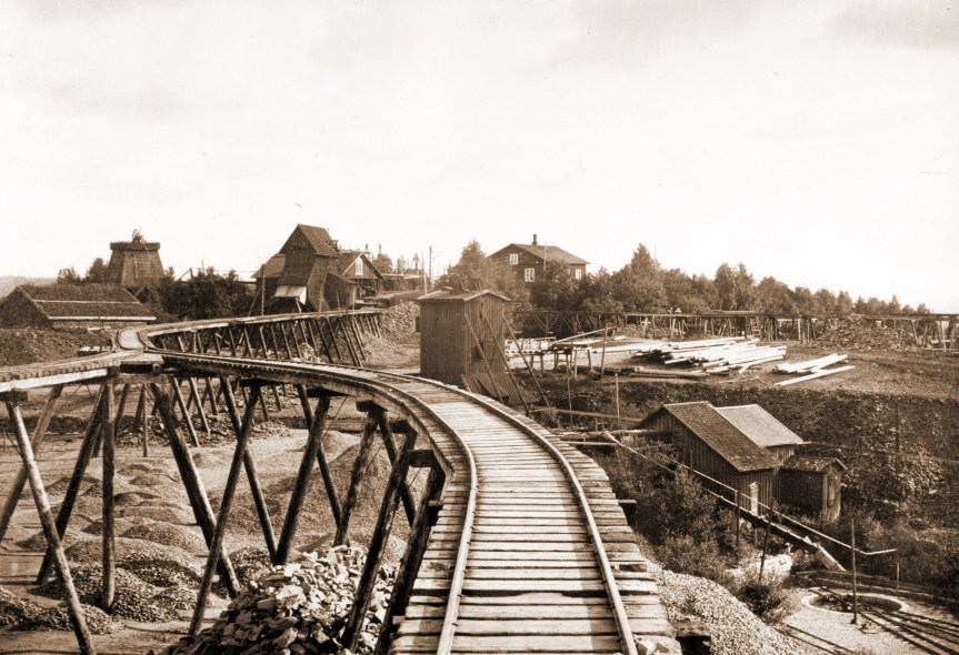 821 Nordmark Järnvägsystem 1912 ,1
