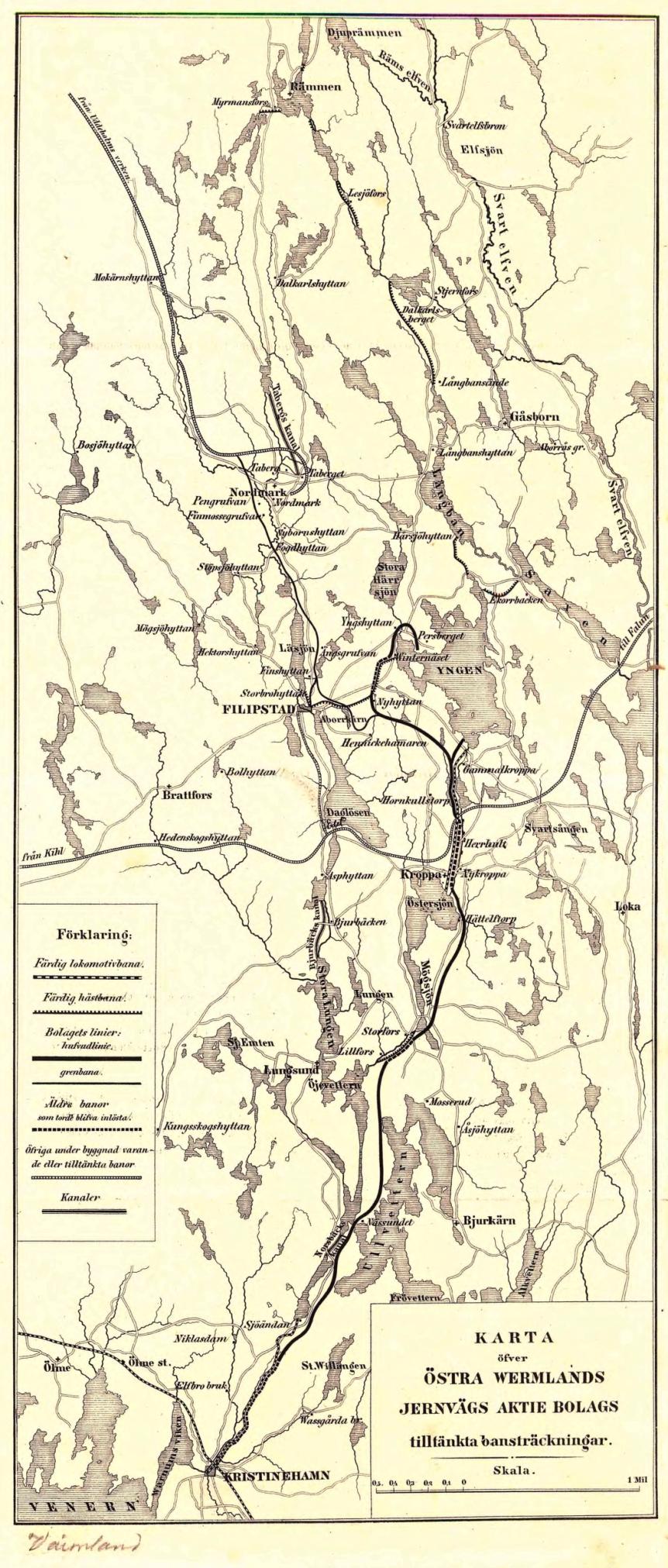 Karta öfver Östra Wermlands Jernvägs ABs tilltänkta bansträckningar_DxO