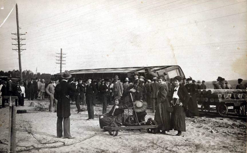 Tågurspårning vid Rbg Hagfors 1917 .2.jpg