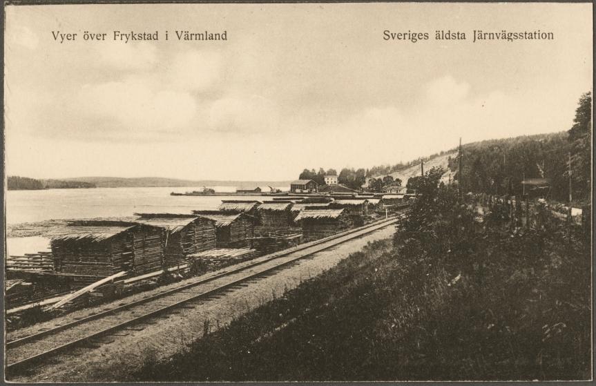 Frykstad i Värmland foto från 1920-talet enl Sverifes Järnvägsmuseum